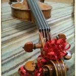 Christmas violin