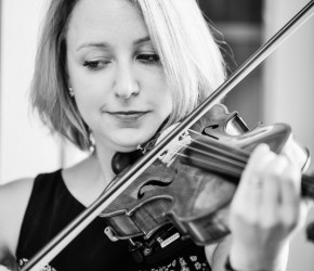 Wedding violinist: Playing in the quaint village chapel at Kent Life. With thanks to Joanne Collins www.joannecollinsphotography.co.uk