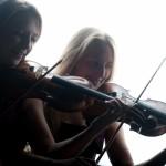 Silhouette violins